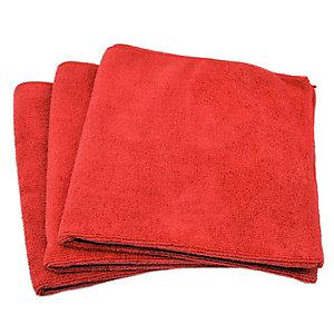 Panno milleusi per tutte le superfici, Microfibra, 35 x 35 cm, Rosso (confezione 10 pezzi)