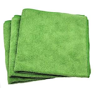 Panno milleusi per tutte le superfici, Microfibra, 35 x 35 cm, Verde (confezione 10 pezzi)