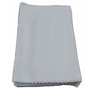 Panno pavimenti, Cotone e microfibra, 40 x 60 cm,  Bianco