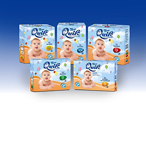 Pannolini per bambini Quick, Taglia 6 - dai 15 ai 30 kg (confezione 84 pezzi)