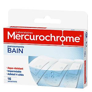 Pansements bain Mercurochrome, 2 boîtes de 16 pansements