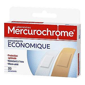 Pansements économiques Mercurochrome, 2 boîtes de 20 pansements