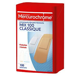 Pansements multi-formats Mercurochrome, 2 boîtes de 100 pansements