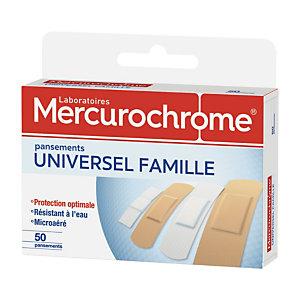 Pansements universel famille Mercurochrome, 2 boîtes de 50 pansements