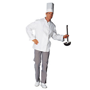 Pantalon cuisinier 100% coton pied de poule, taille 52