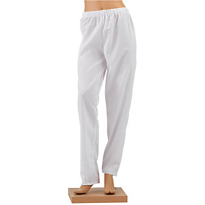 Pantalon hospitalier mixte blanc, taille 44/46