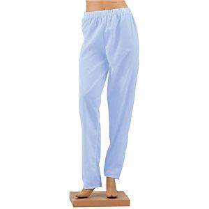 Pantalon hospitalier mixte bleu ciel, taille 56/58