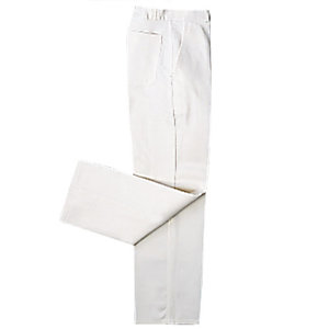Pantalon de travail 100% coton blanc, taille 52