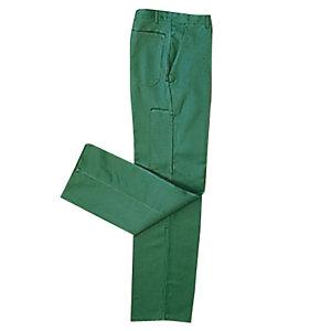 Pantalon de travail 100% coton vert bouteille, taille 48