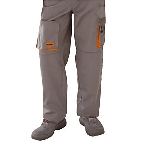 Pantalon de travail gris et orange Mach 2 Deltaplus, taille S