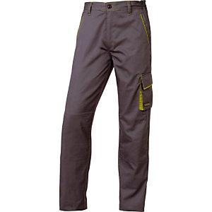 Pantalon de travail polycoton gris et vert Panostyle, DeltaPlus, taille M