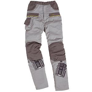 Pantalon de travail polycton gris clair et gris foncé Mach 2, DeltaPlus, taille M
