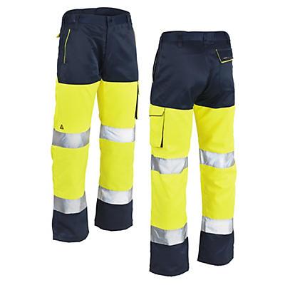 Pantaloni alta visibilità giallo/blu
