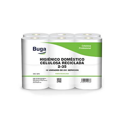Papel higiénico celulosa blanca reciclada Buga