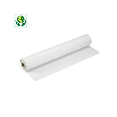 Papel Kraft blanco en rollo