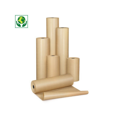 Papel kraft natural em rolo qualidade 72 gr/m² RAJAKRAFT Super