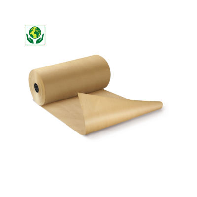 Papel kraft natural en rollo calidad 90 gr/m² RAJA®