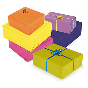 Papel kraft de regalo colores vivos