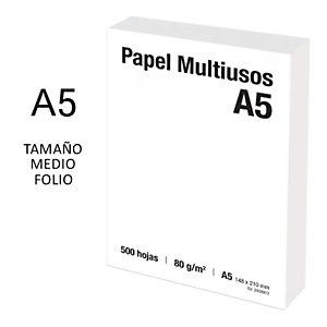 Papel Multifunción Blanco Tamaño A5 80 g/m²