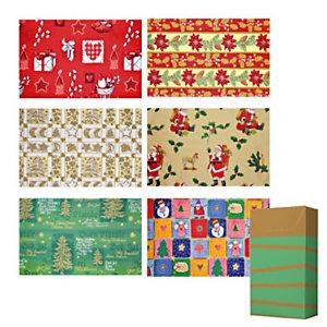 Papel de regalo rollo retractilado - Surtido Navidad