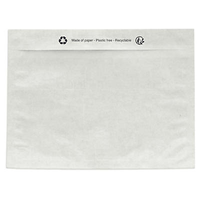 Paper document enclosed envelope labels, plain