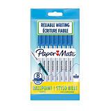 Paper Mate 045 Bolígrafo de punta de bola, punta mediana de 1mm, cuerpo blanco, tinta azul