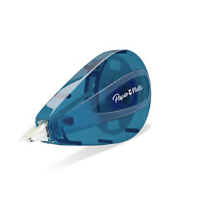 Paper Mate Correttore a nastro Mini, 5 mm x 6 m, Azzurro (confezione 3 pezzi)