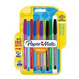 Paper Mate InkJoy™ 100, Bolígrafo de punta de bola, punta mediana de 1mm, cuerpo translúcido en colores variados, colores de tinta variados