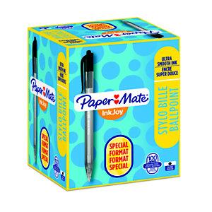 Paper Mate InkJoy 100 RT Penna a sfera a scatto, Punta media da 1 mm, Fusto nero, Inchiostro nero (confezione 80+20)