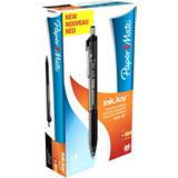 Paper Mate InkJoy 300 RT Bolígrafo retráctil de punta de bola, punta mediana de 1mm, cuerpo negro con grip, tinta negra