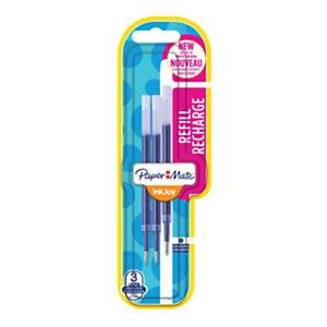 Paper Mate InkJoy Refill di ricambio per penne gel, Punta media da 0,7 mm, Inchiostro blu (blister 3 pezzi)