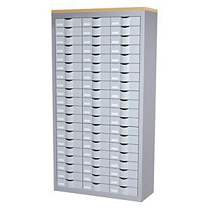 Paperflow Armoire 3 colonnes Cycladis 60 tiroirs - Ht 169,5 cm, aluminium