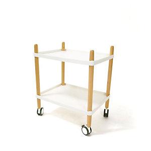 Paperflow Carrello multiuso, 50 x 36 x 55 cm, Faggio/bianco