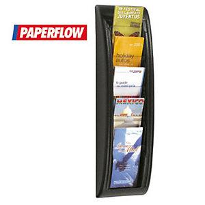 """Paperflow Espositore da parete """"Quick Fit"""" a 5 scomparti  1/3 A4 - Colore nero - Dimensioni esterne (l x p x sp) cm 18,1 x 9,5 x 65"""