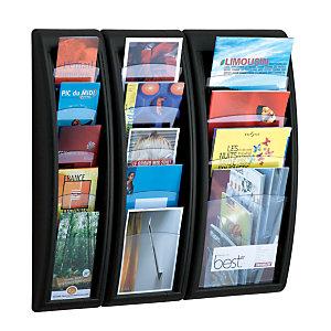 Paperflow Expositor mural modular Portafolletos formato 1/3 A4 - 5 casillas