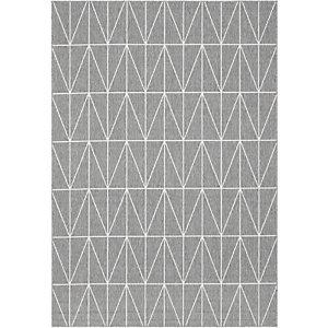Paperflow Fénix, Alfombra decorativa para interior/exterior, 100% polipropileno, 120 x 170 cm, diseño geométrico gris