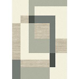 Paperflow Flow, Alfombra decorativa para interior/exterior, 100% polipropileno, 120 x 170 cm, diseño tetris verde/beige