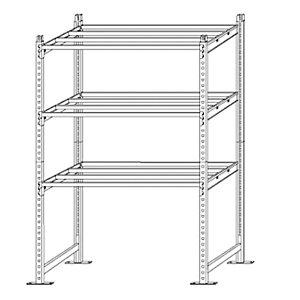 PAPERFLOW Kit iniziale scaffale - 3 ripiani - metallo - 100x60x200 cm - grigio - Paperflow