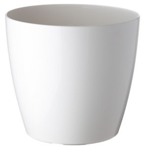 Paperflow Maceta de polipropileno, 20 (Ø) cm, color blanco