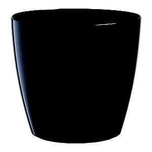 Paperflow Maceta de polipropileno, 20 (ø) cm, color negro
