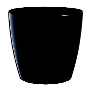 Paperflow Maceta de polipropileno, 25 (ø) cm, color negro