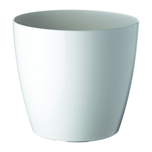 Paperflow Maceta de polipropileno, 30 (ø) cm, color blanco