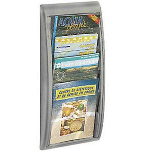 Paperflow Présentoir Quick Fit System - Mural - 4 cases A4 - Aluminium