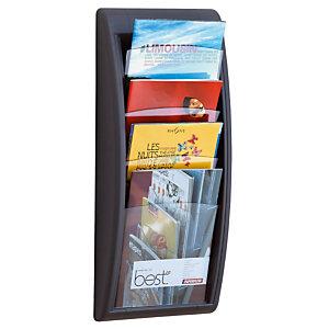 Paperflow Présentoir Quick Fit System - Mural - 4 cases A4 - Anthracite