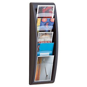 Paperflow Présentoir Quick Fit System - Mural - 5 cases A5 - Anthracite
