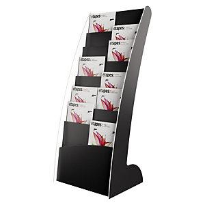 Paperflow Présentoir de sol Courbo monobloc 8 cases - Noir