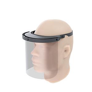 Paperflow Visière de protection visage - Paroi amovible - Lavable et réutilisable