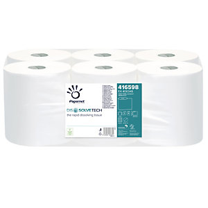 PAPERNET Asciugamani in rotolo Autocut Dissolve Tech - goffratura micro - 2 veli - 20 gr -19,8 cm x 140 mt - diametro 18,5 cm - Papernet