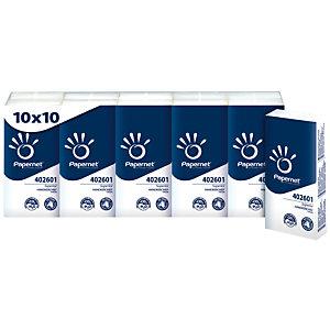 PAPERNET Pañuelos faciales, 4 capas 10 hojas, 210 mm, blanco