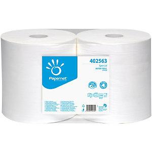 PAPERNET Special Wiper Roll Toallitas de limpieza de papel, 2 capas, 1500 hojas, blanco